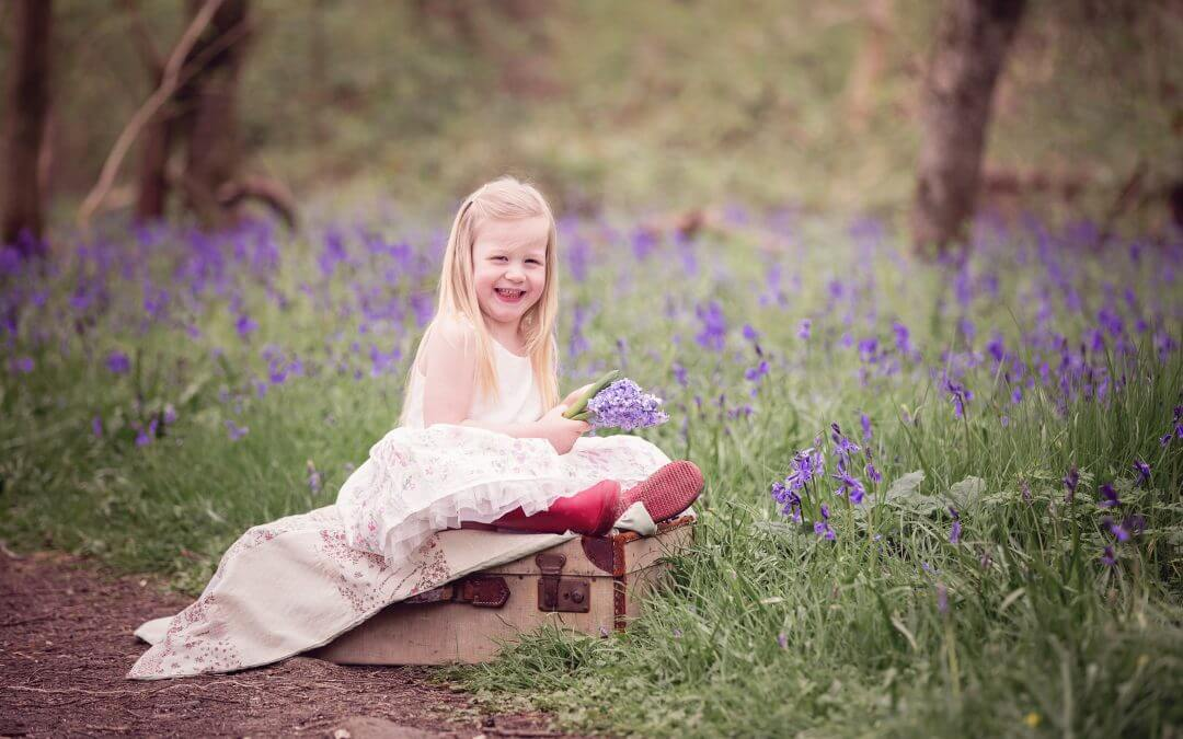 Cambridgeshire Family Photographer | Bluebells and smiles