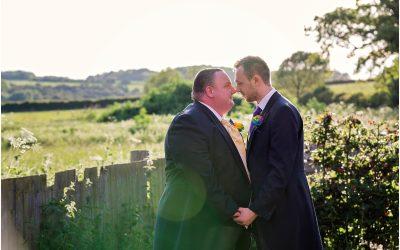 Rainbow of Colour for Same Sex Wedding