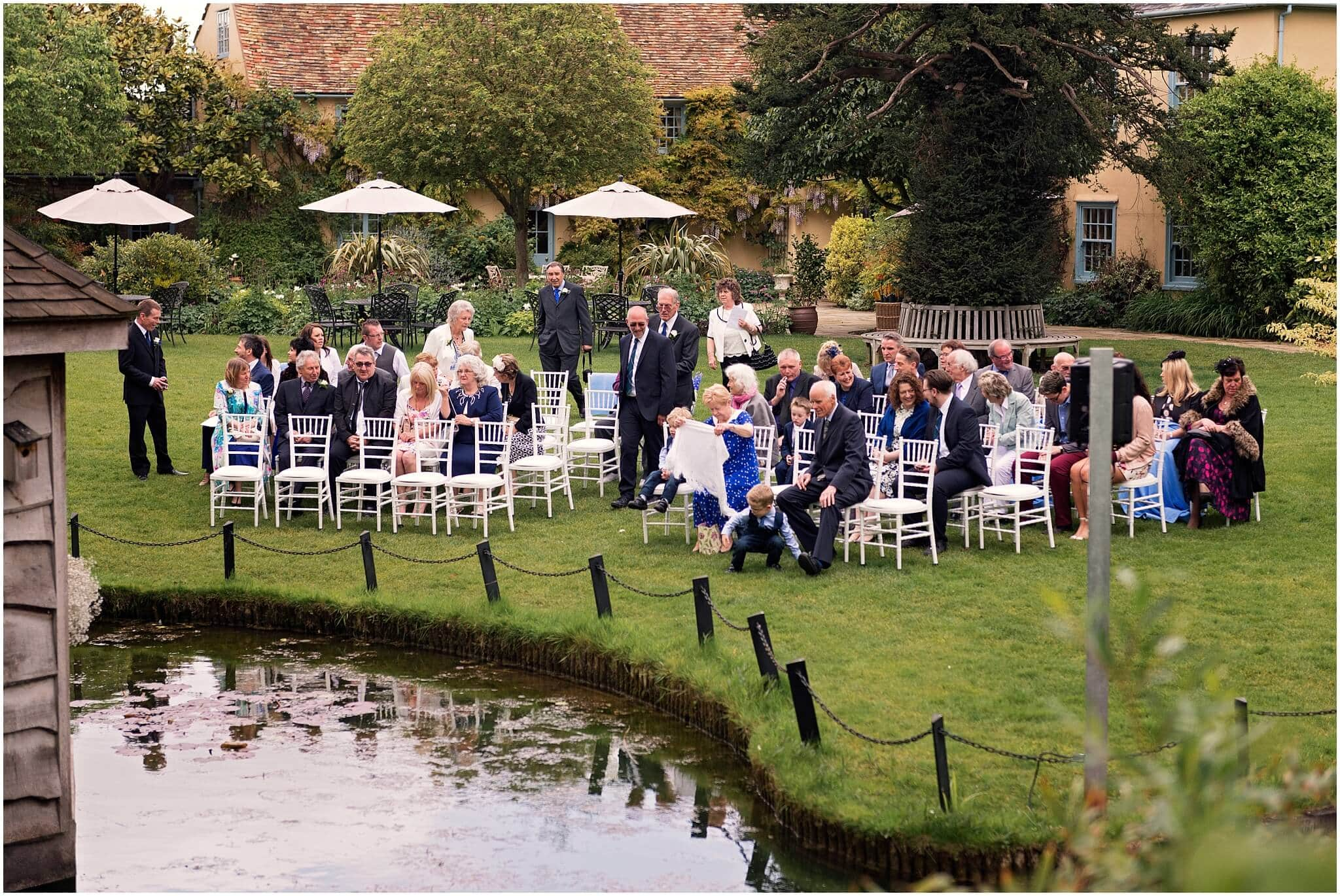 Outside ceremony seating for guests