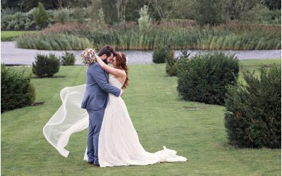 Outdoor wedding ceremony at The Old Hall Ely
