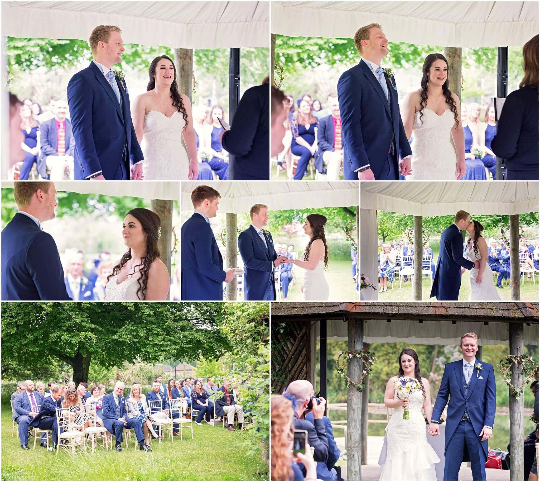 Chippenham Park Wedding Outside Ceremony