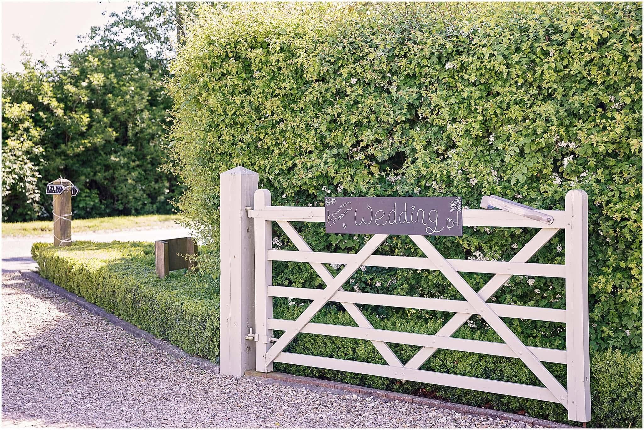 Farm wedding signs