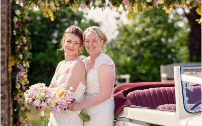 Beautiful wedding at Congham Hall for two beautiful Brides