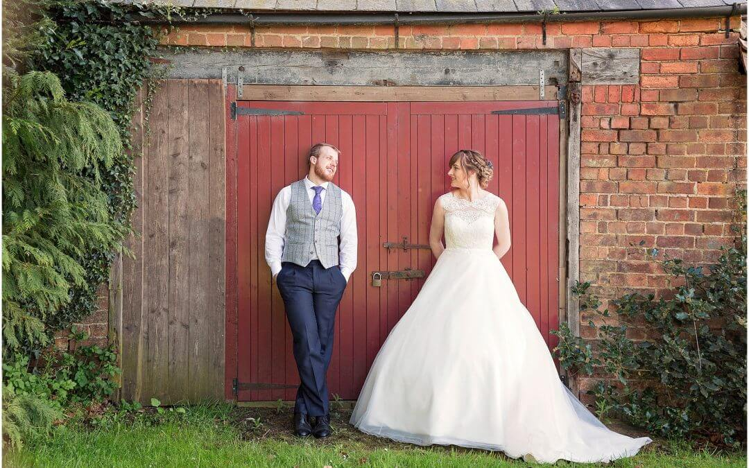 Lorna & Mark's Sunny Wedding at The Barns Hunsbury Hill
