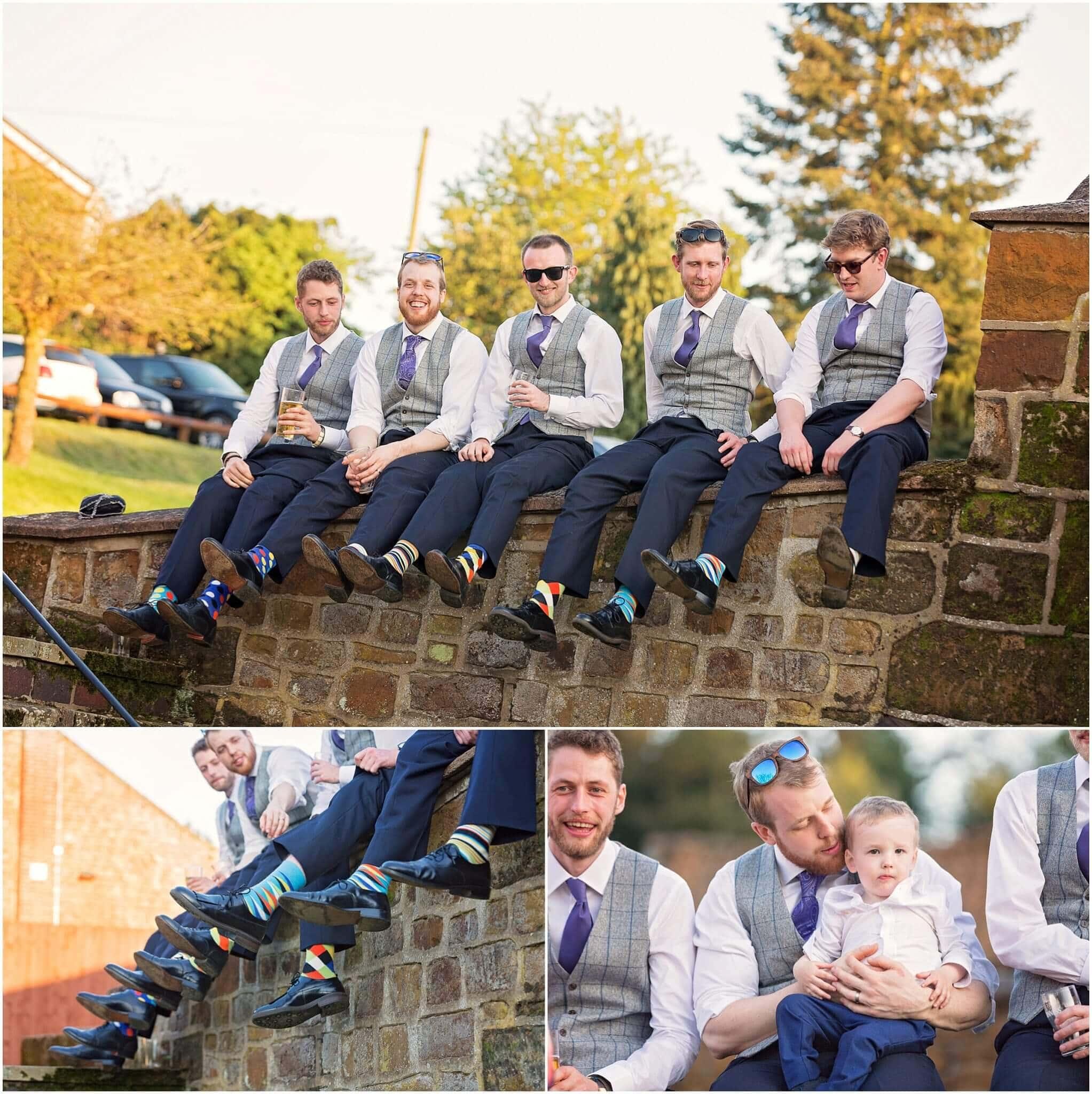 Groomsmen tweed suits