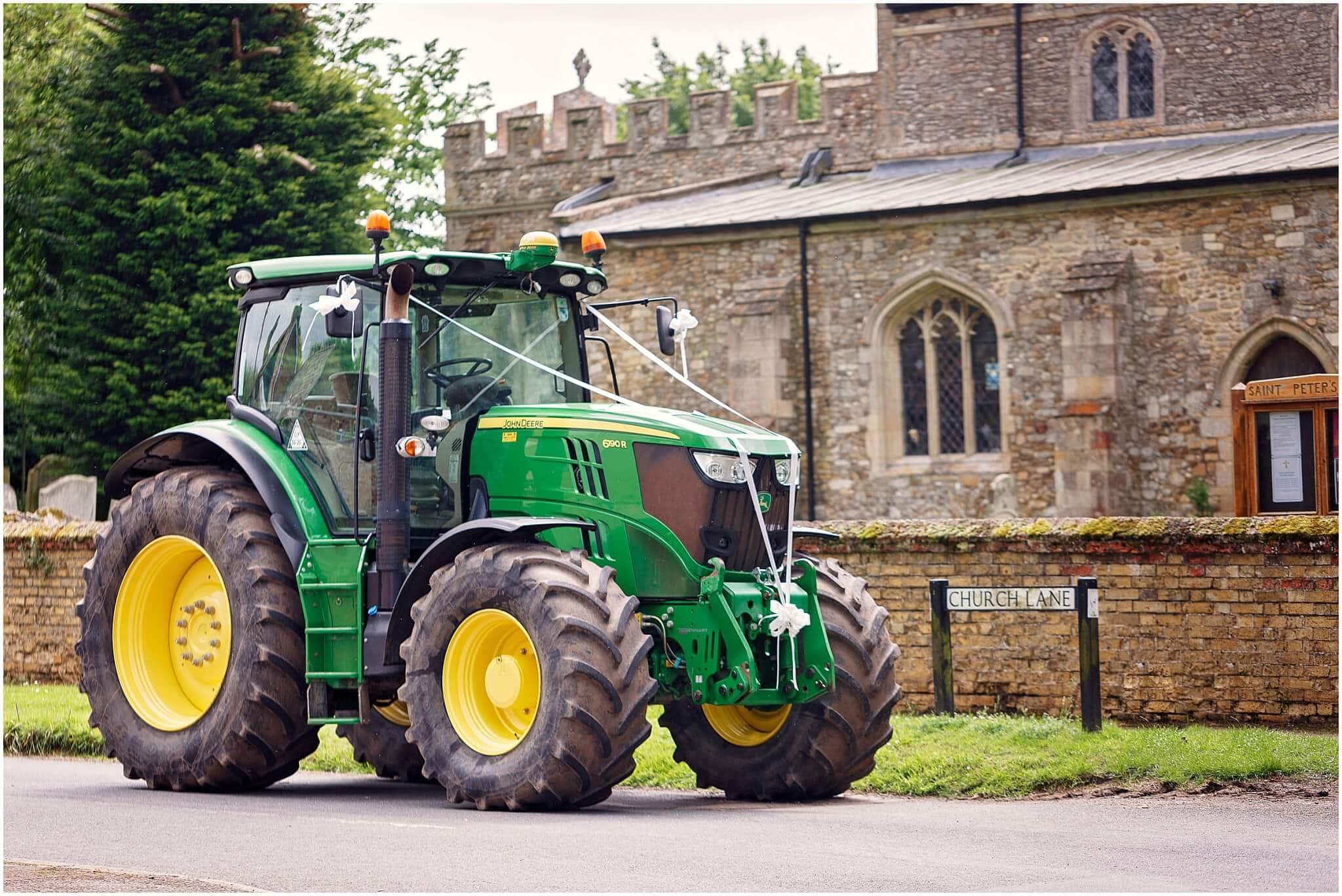 Wedding tractor transport