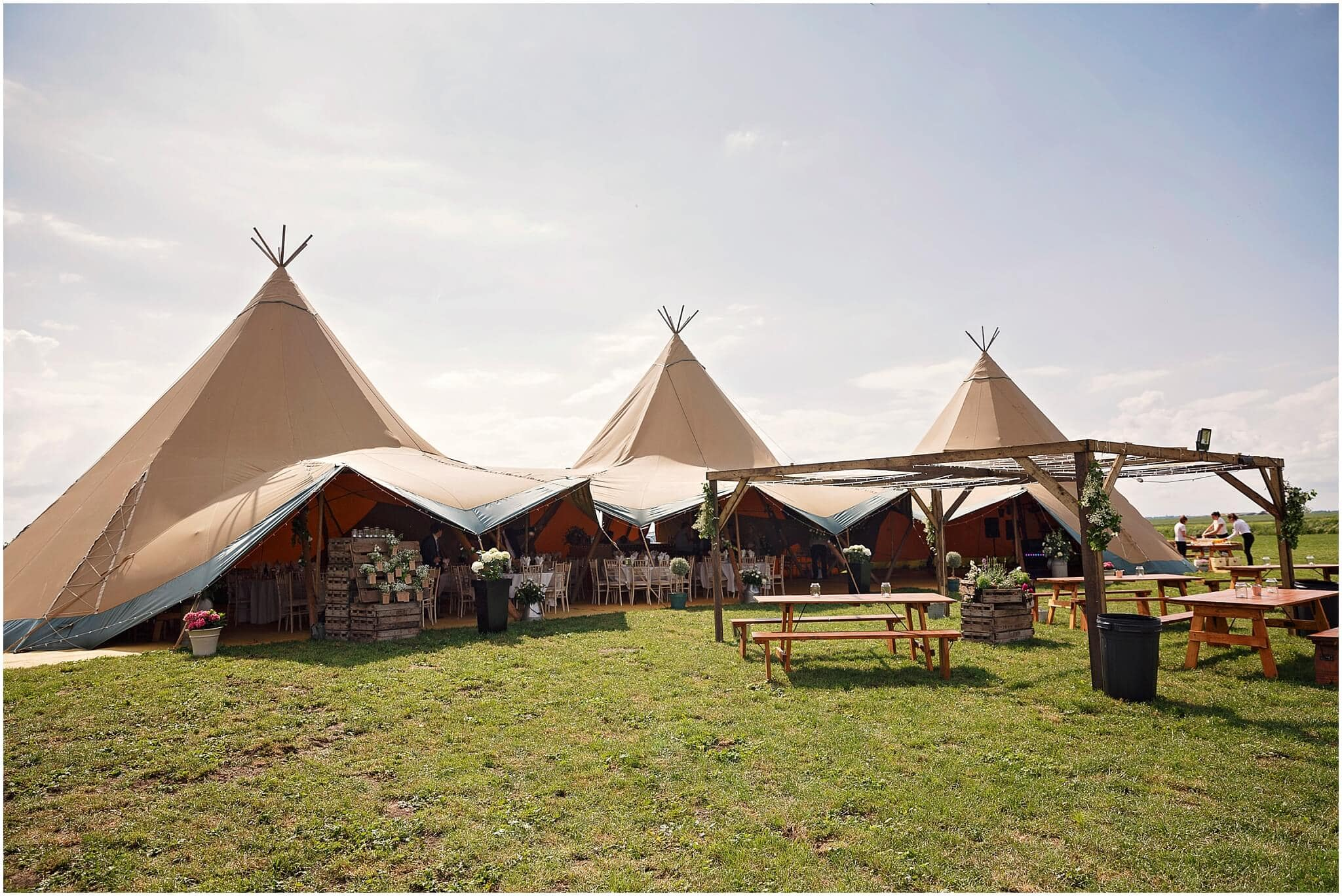 Events under canvas tipi