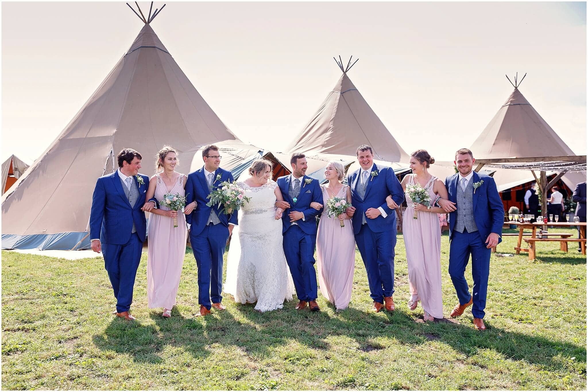 Events under canvas tipi wedding