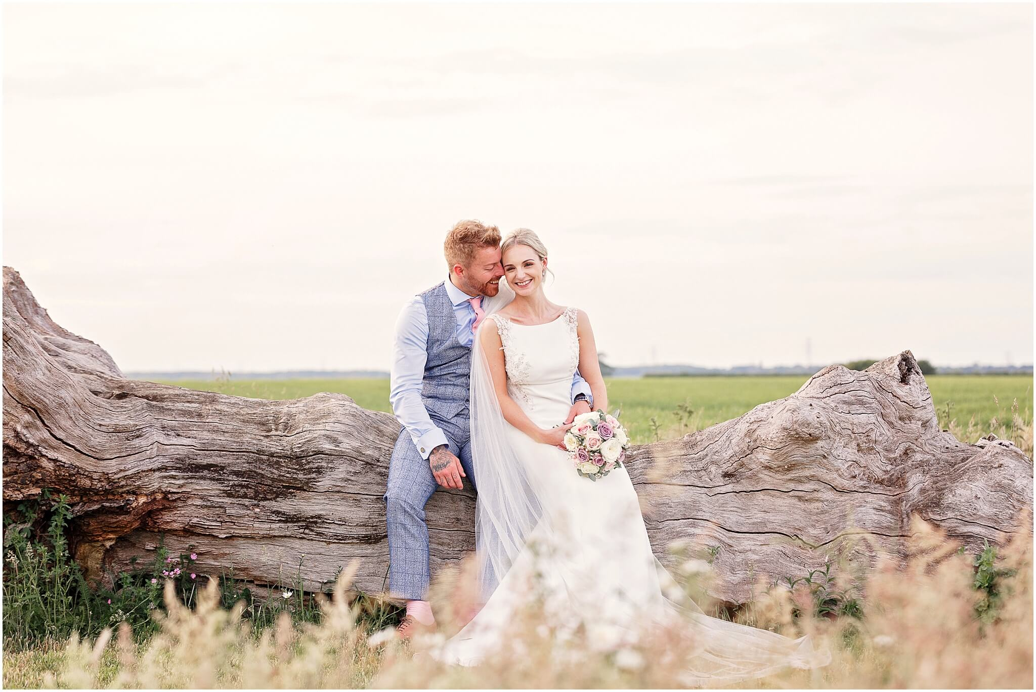 Shades of White Wedding Dress at Bassmead Manor Barns