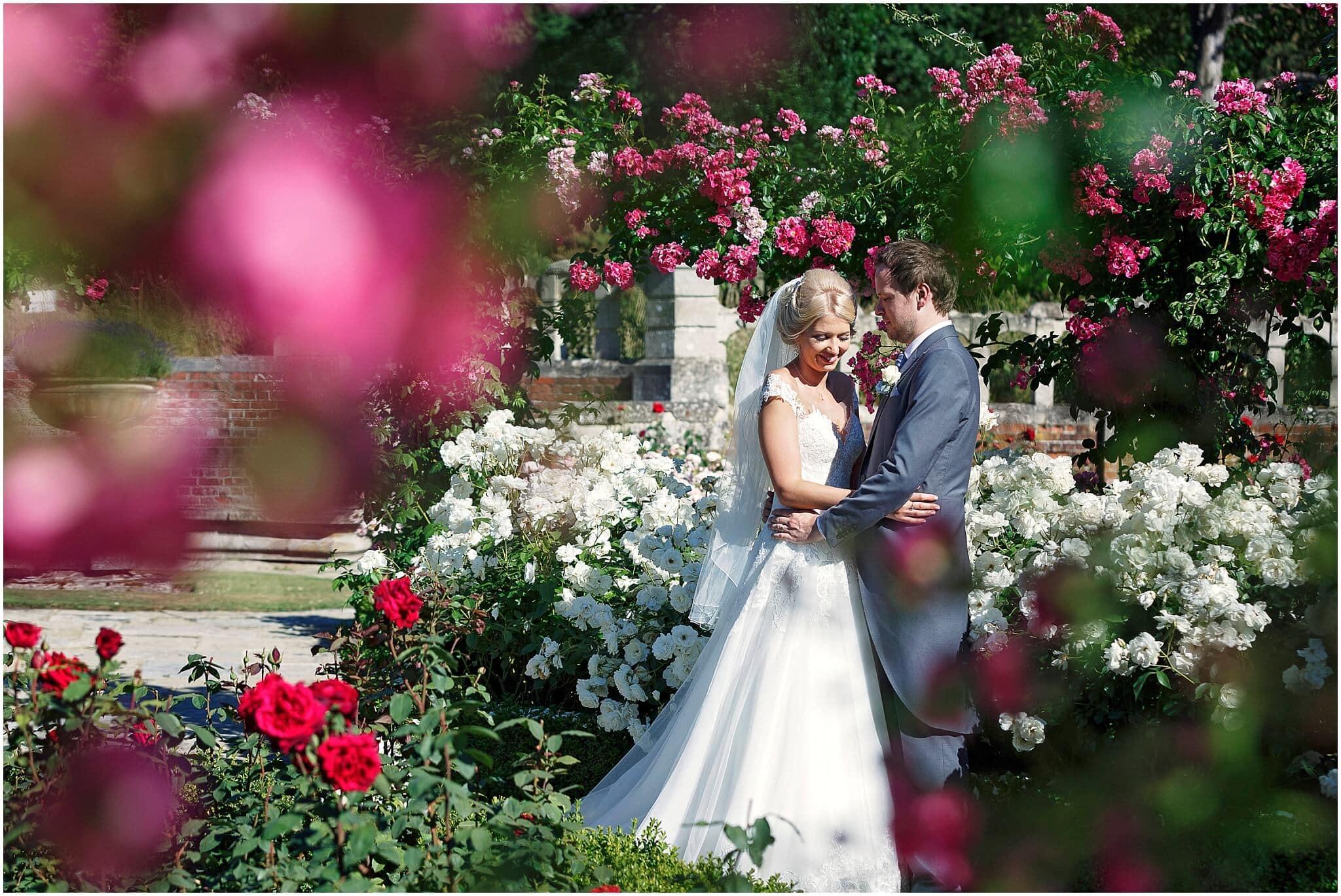 Longstowe Hall rose garden