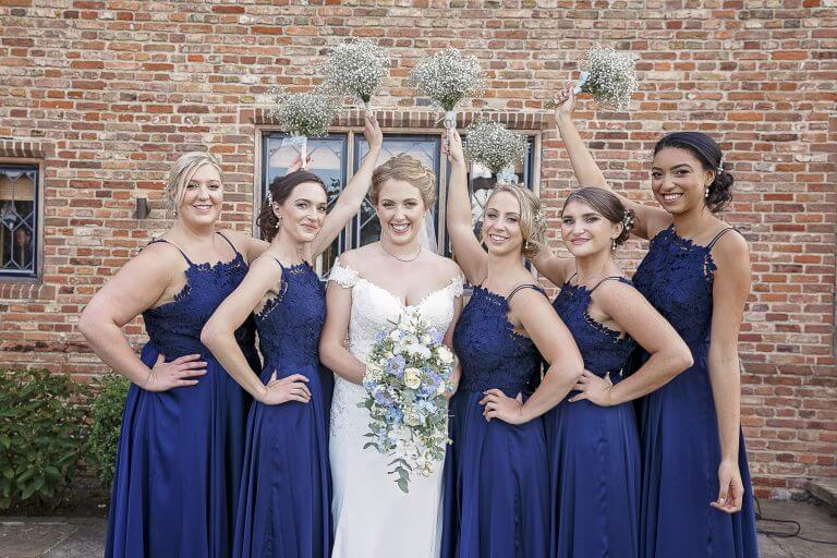 Bridal party at The Old Hall Ely
