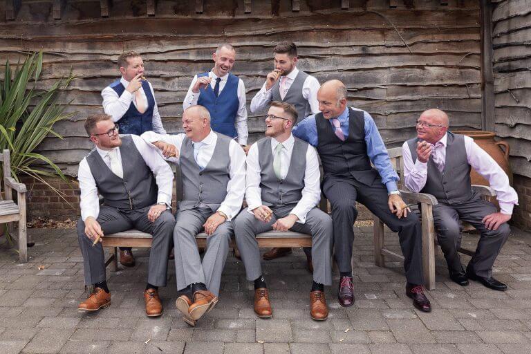 Wedding party at Wilobe Farm Barn
