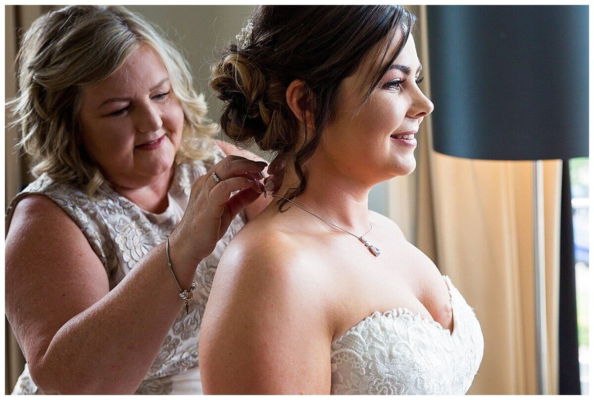 Bride getting ready at Beford Lodge Hotel Newmarket