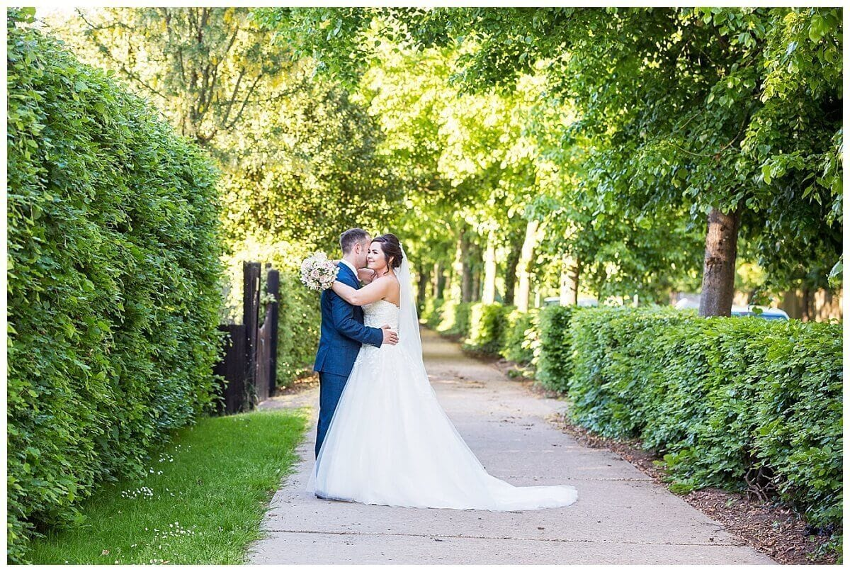 Bride and Groom at Bedford Lodge Hotel