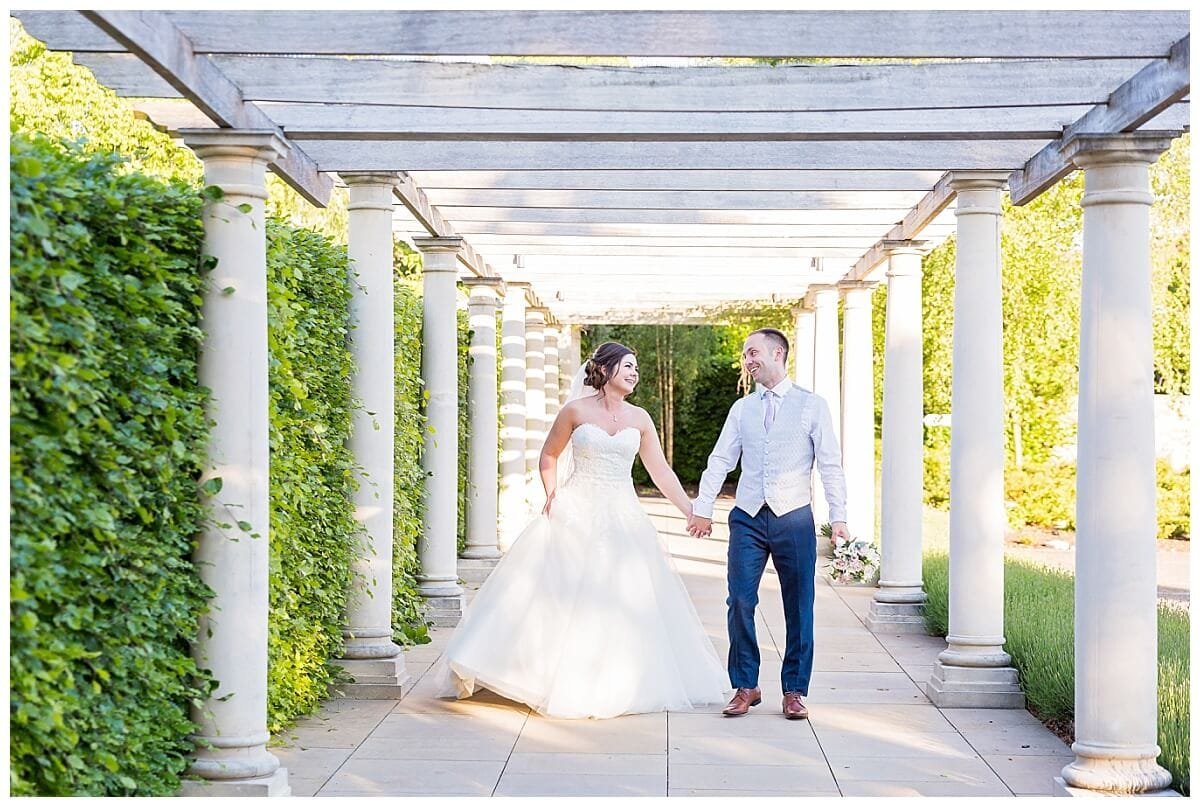 Bride and Groom at Bedord Lodge Hotel Newmarket