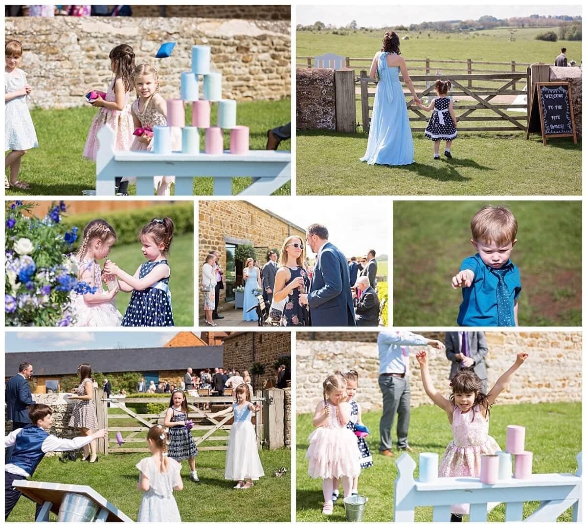 Garden Games at Dodford Manor Wedding Reception