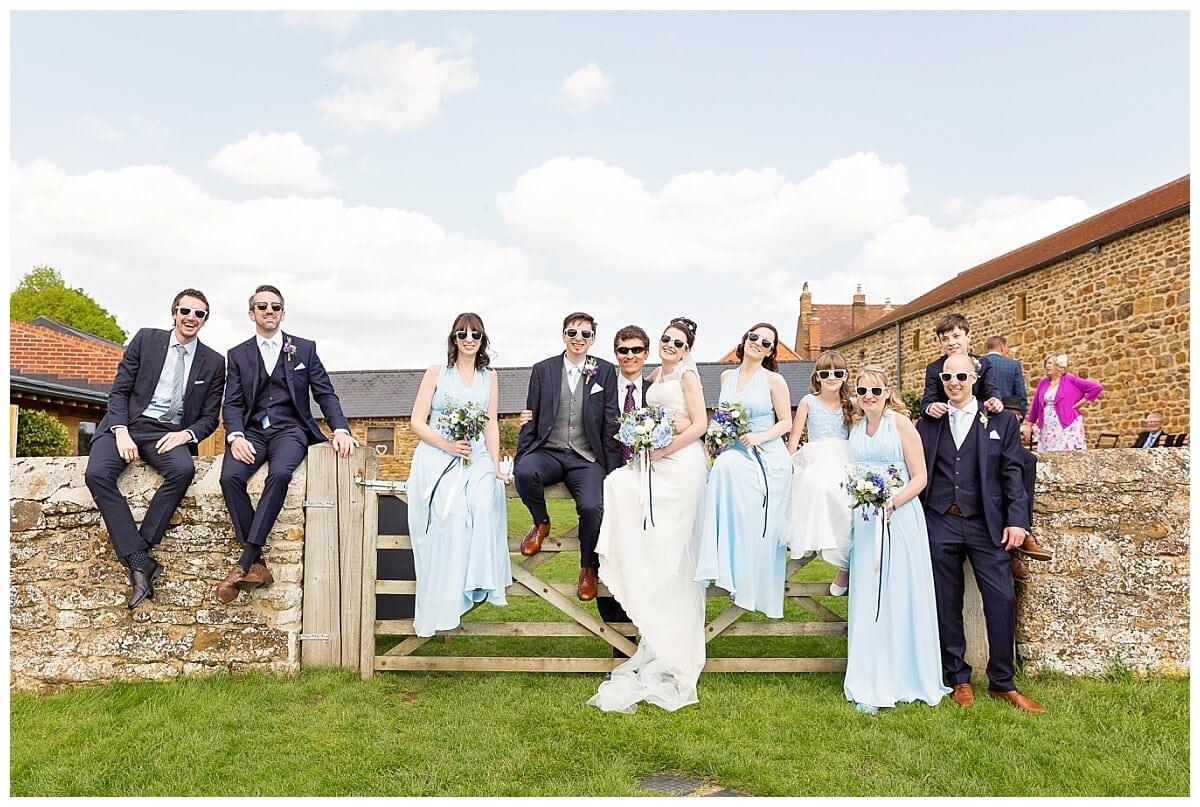 Bridal Party at Dodford Manor wedding