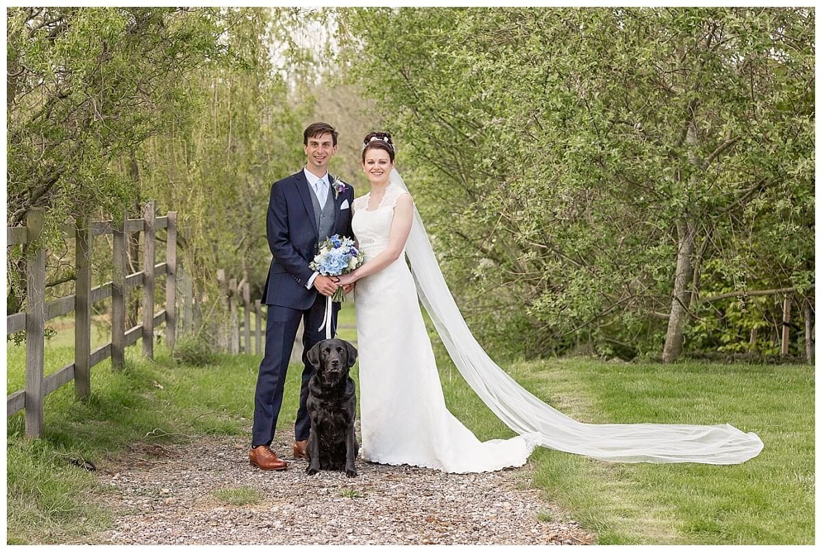 Bride and Groom at Dodford Manor