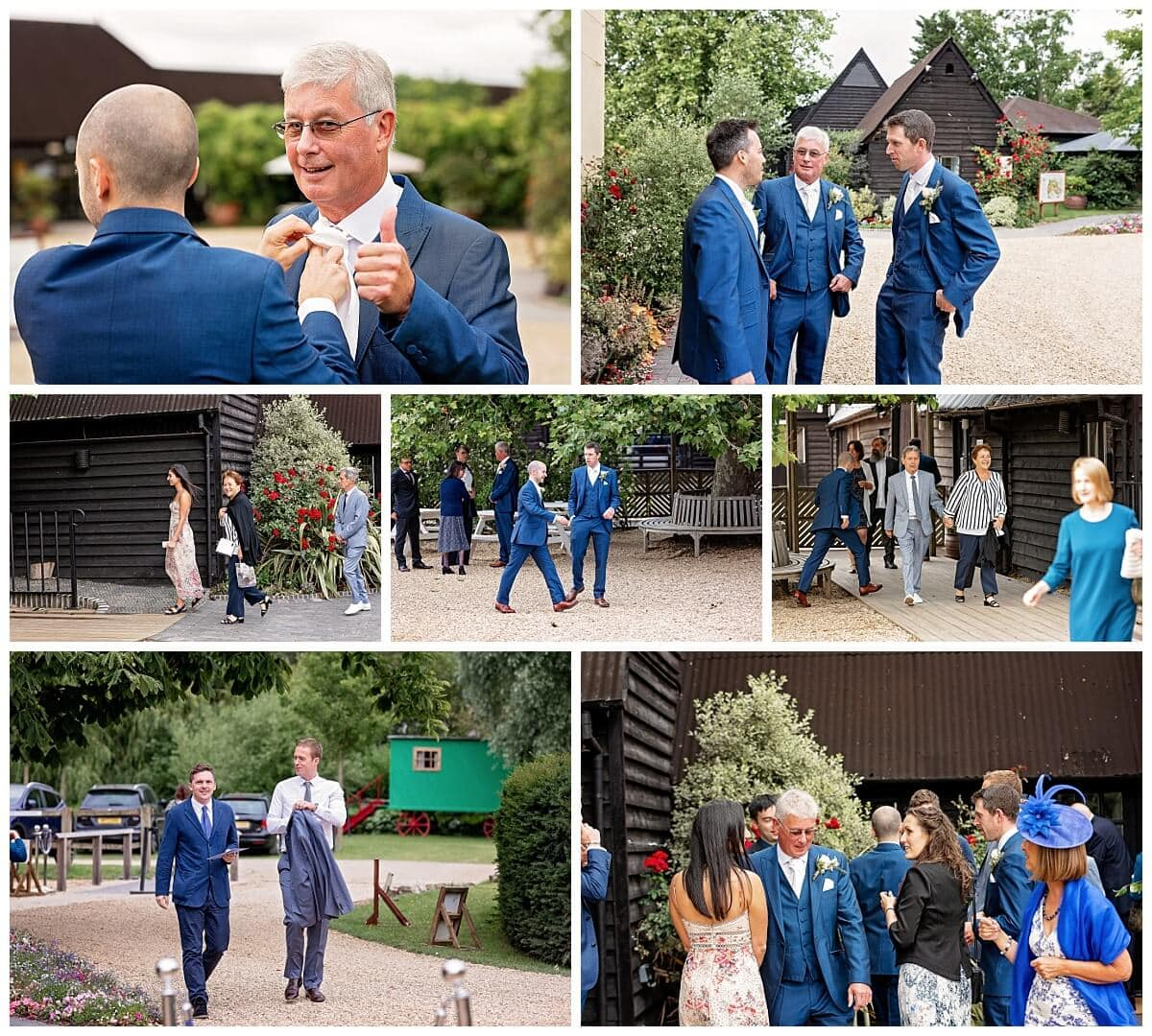 Guests arriving at South Farm