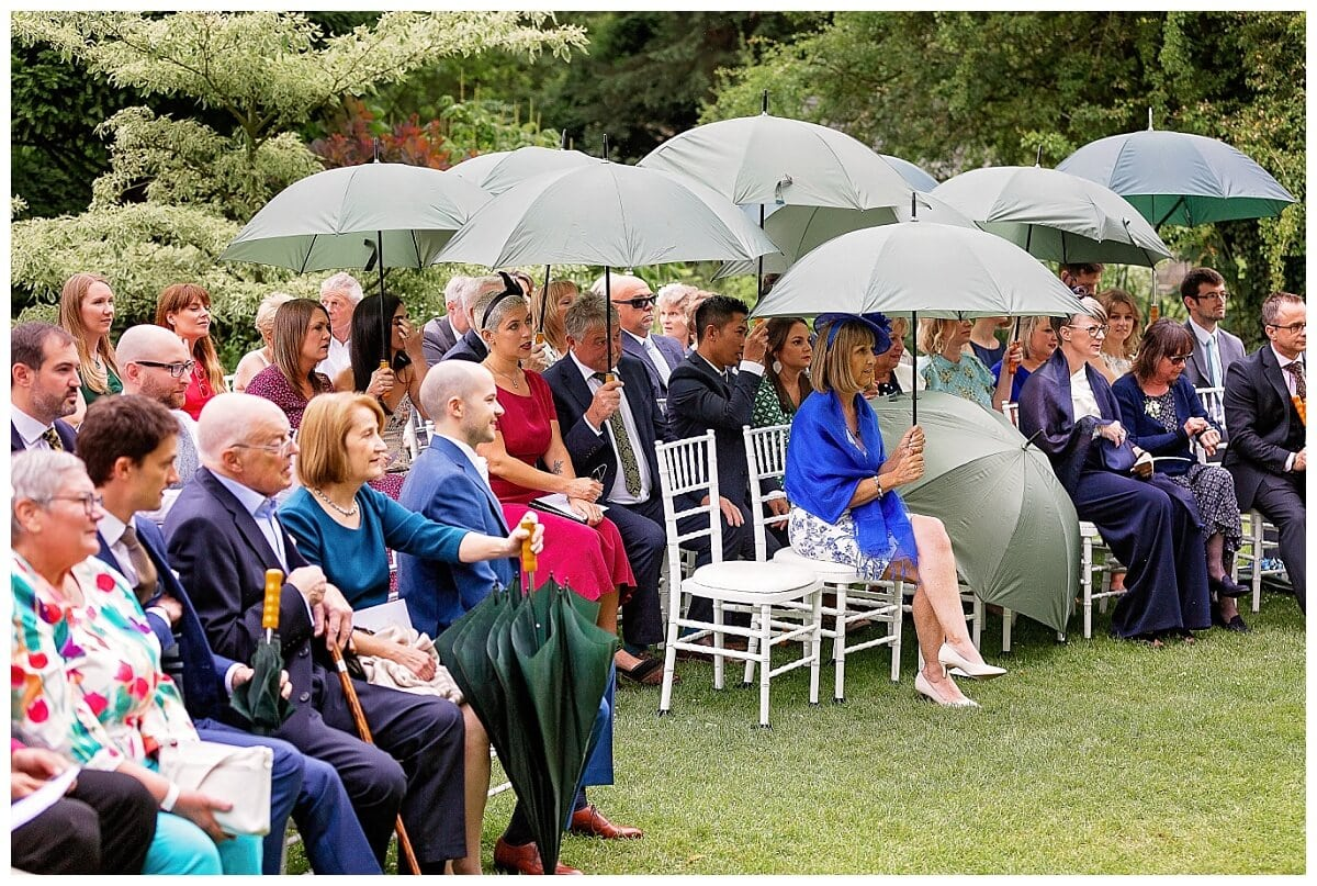 Rainy wedding at South Farm