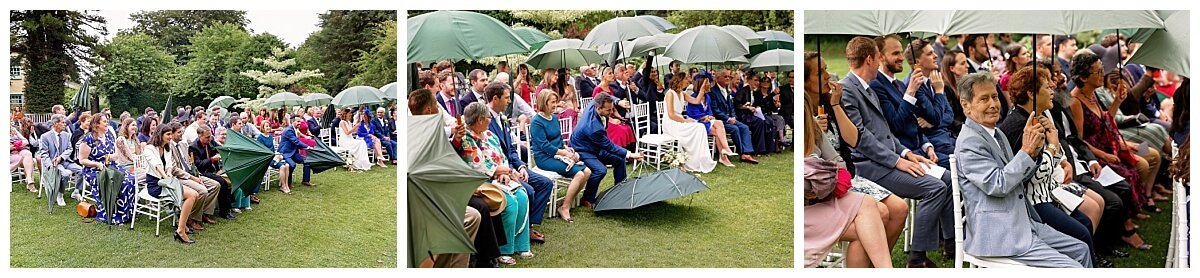 Wedding in the rain at South Farm