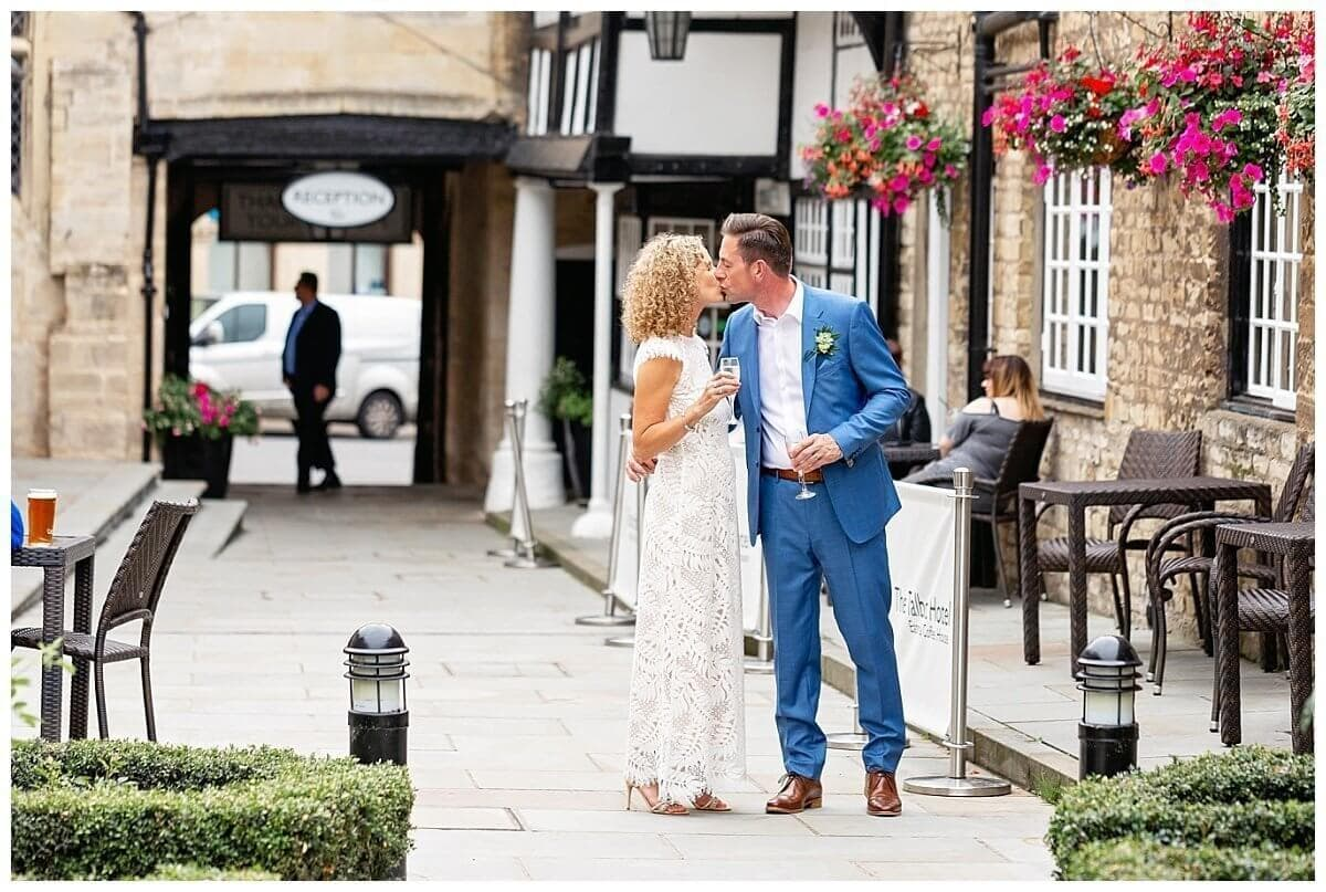 Bride and Groom at The Talbot Oundle