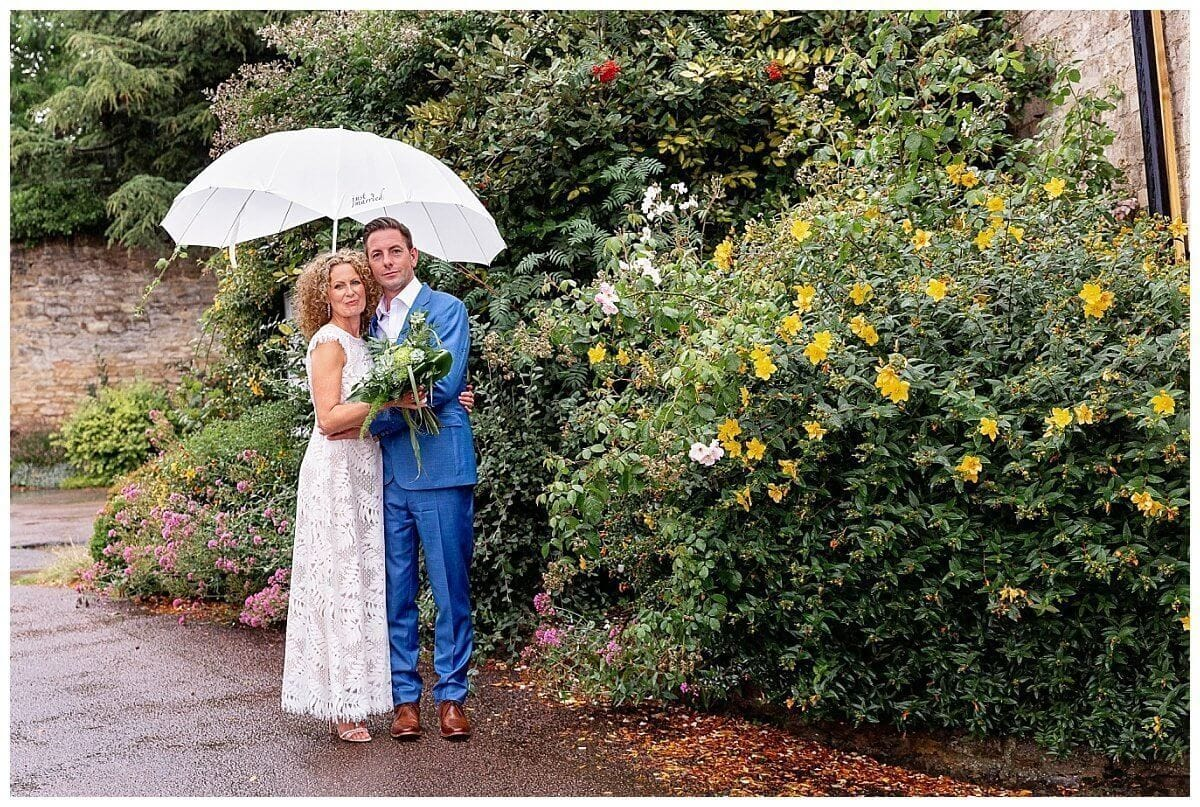 Wet wedding at The Talbot Hotel Oundle