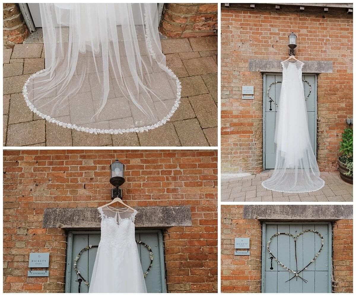 Shades of White wedding dress
