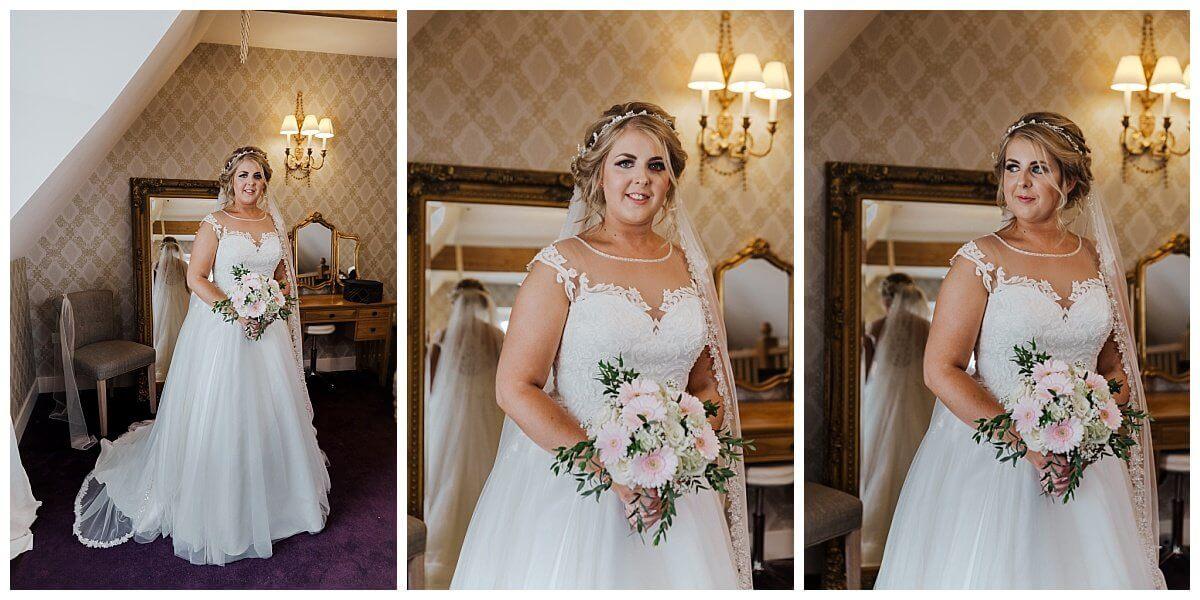 Bride at Bassmead Manor Barns