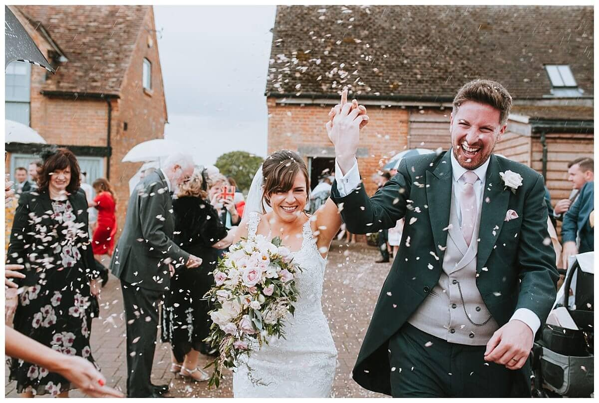 Confetti on a wedding day at Bassmead