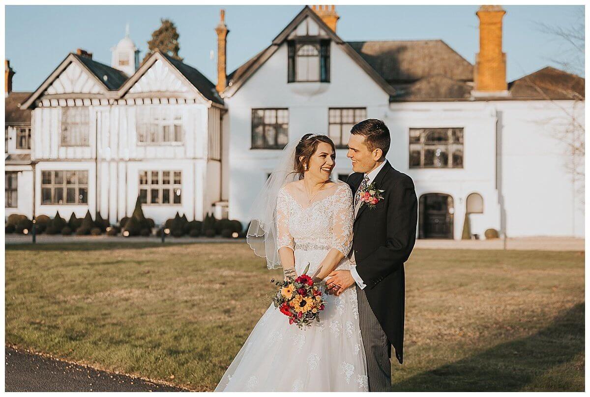 Winter wedding at Swynford Manor