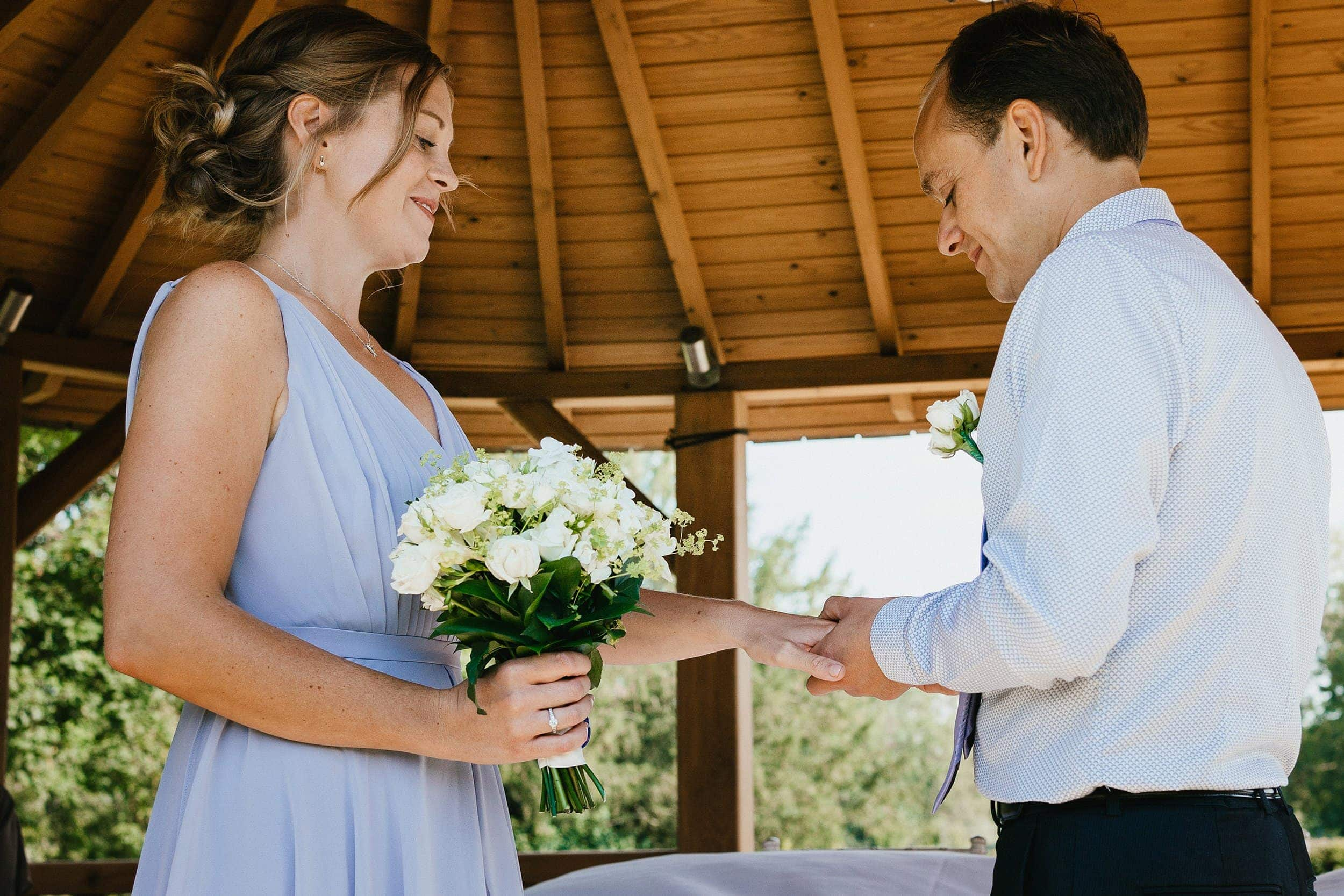 Suffolk outdoor wedding ceremony
