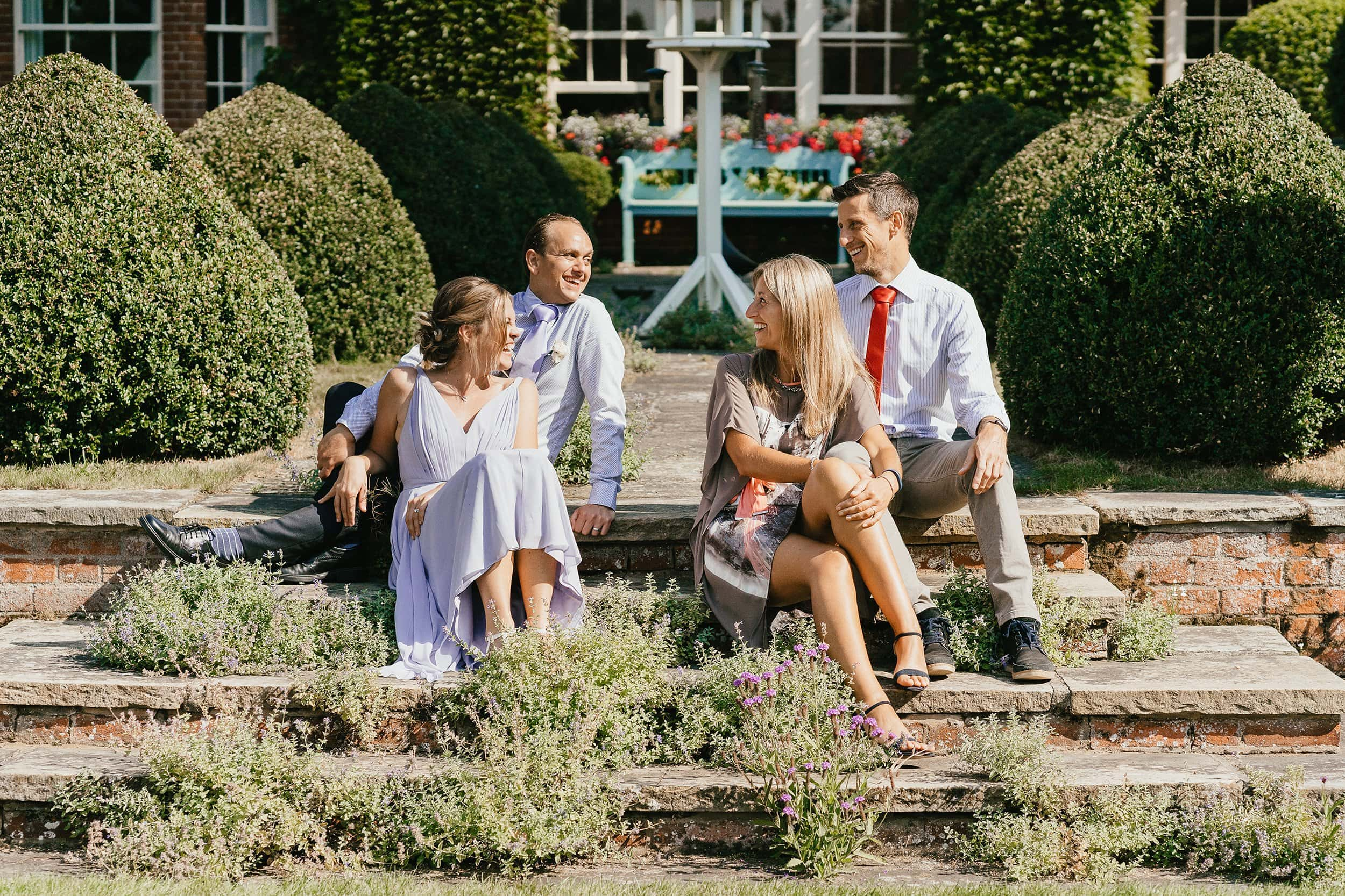 Micro wedding with four people