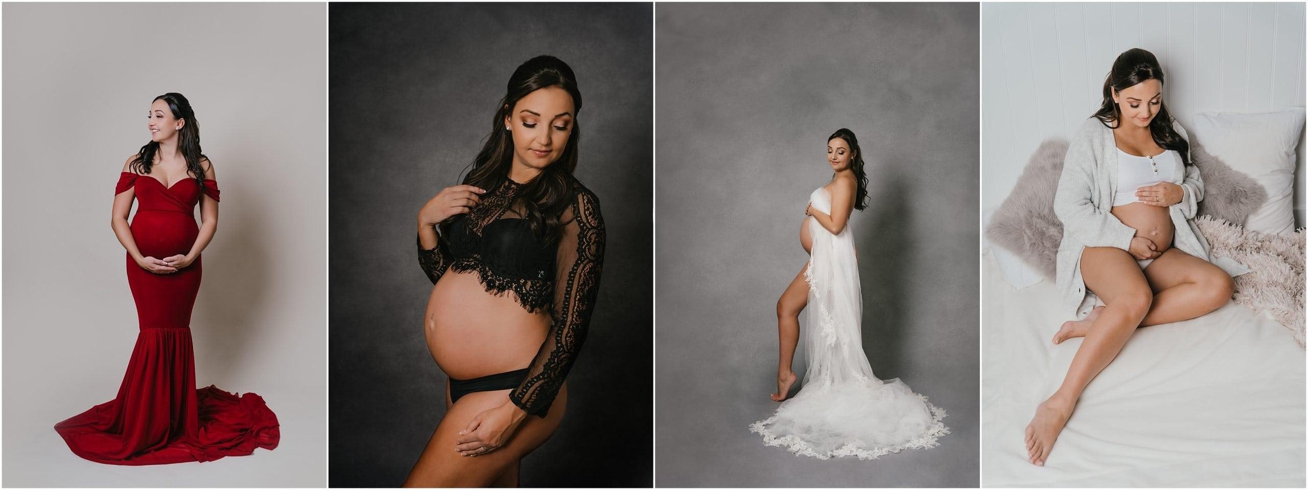 Pregnant lady in photo studio