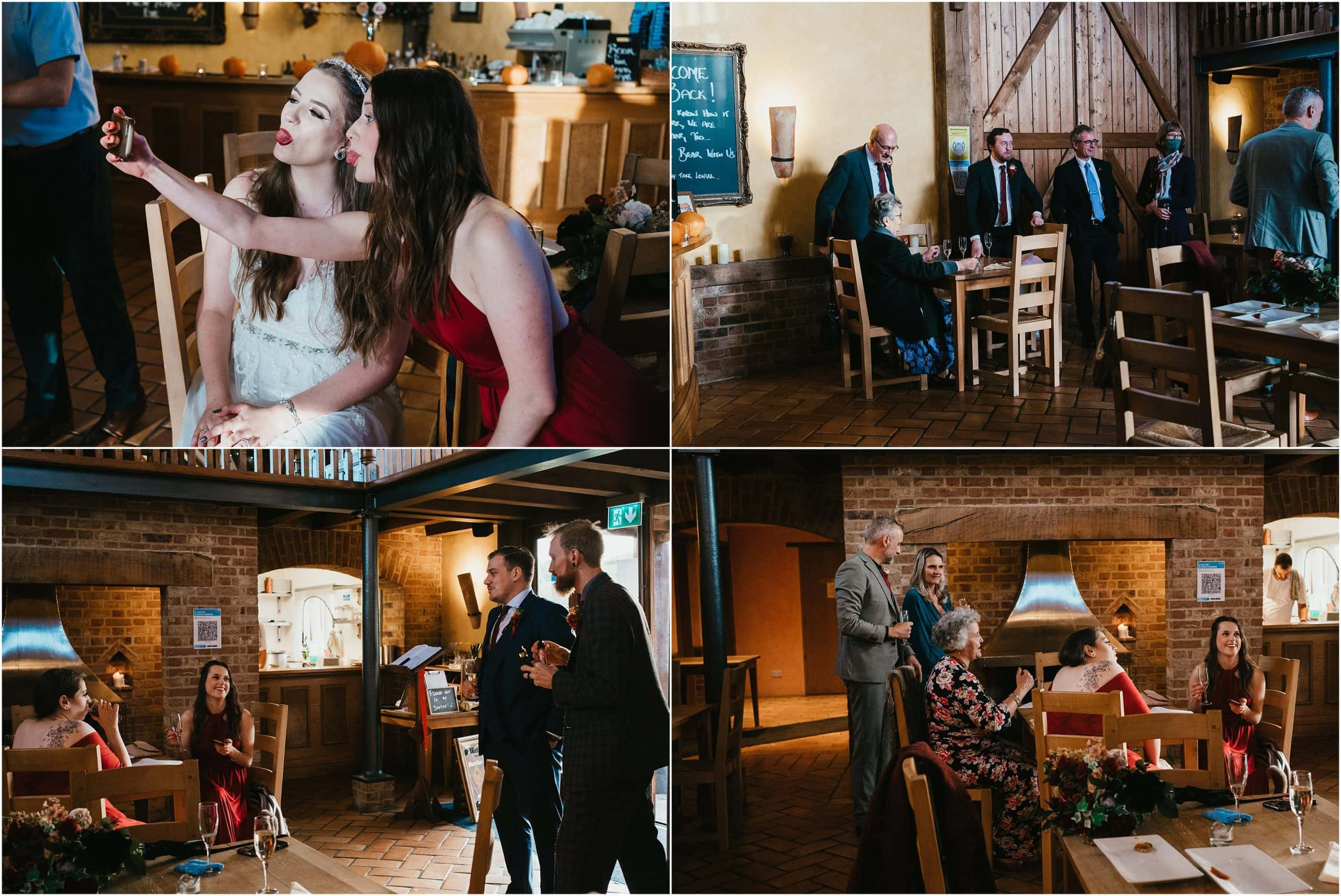 Wedding reception at The Barns Restaurant Pidley