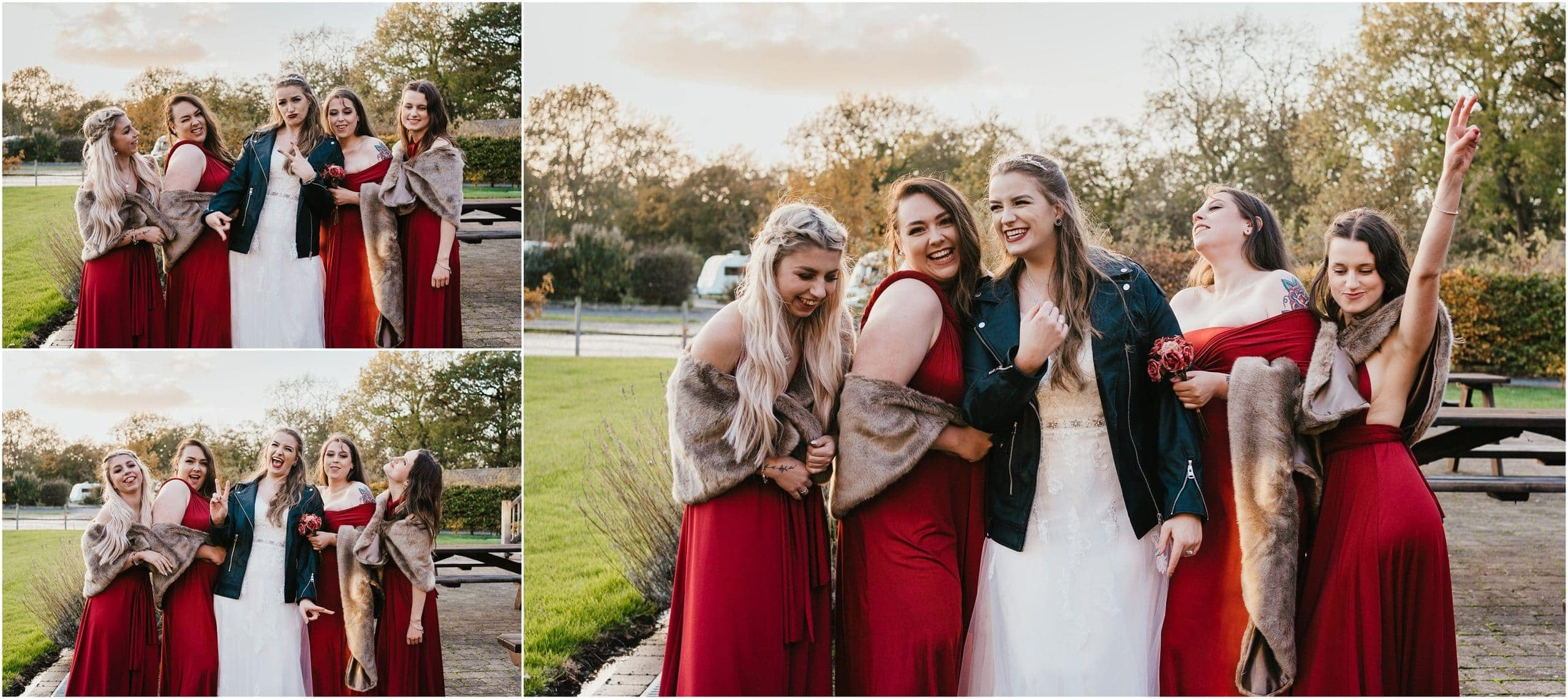 Bridesmaids at Micro Wedding