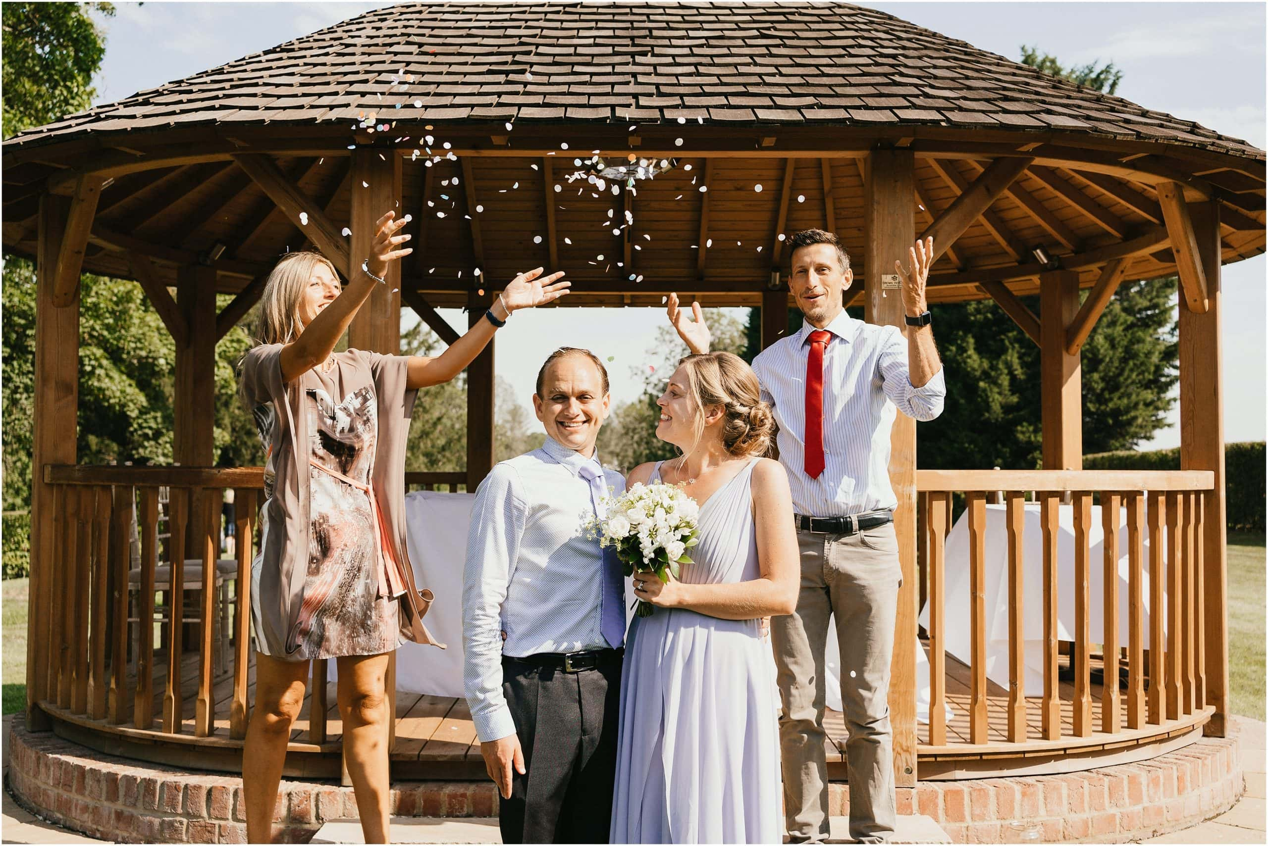 Small wedding of four people