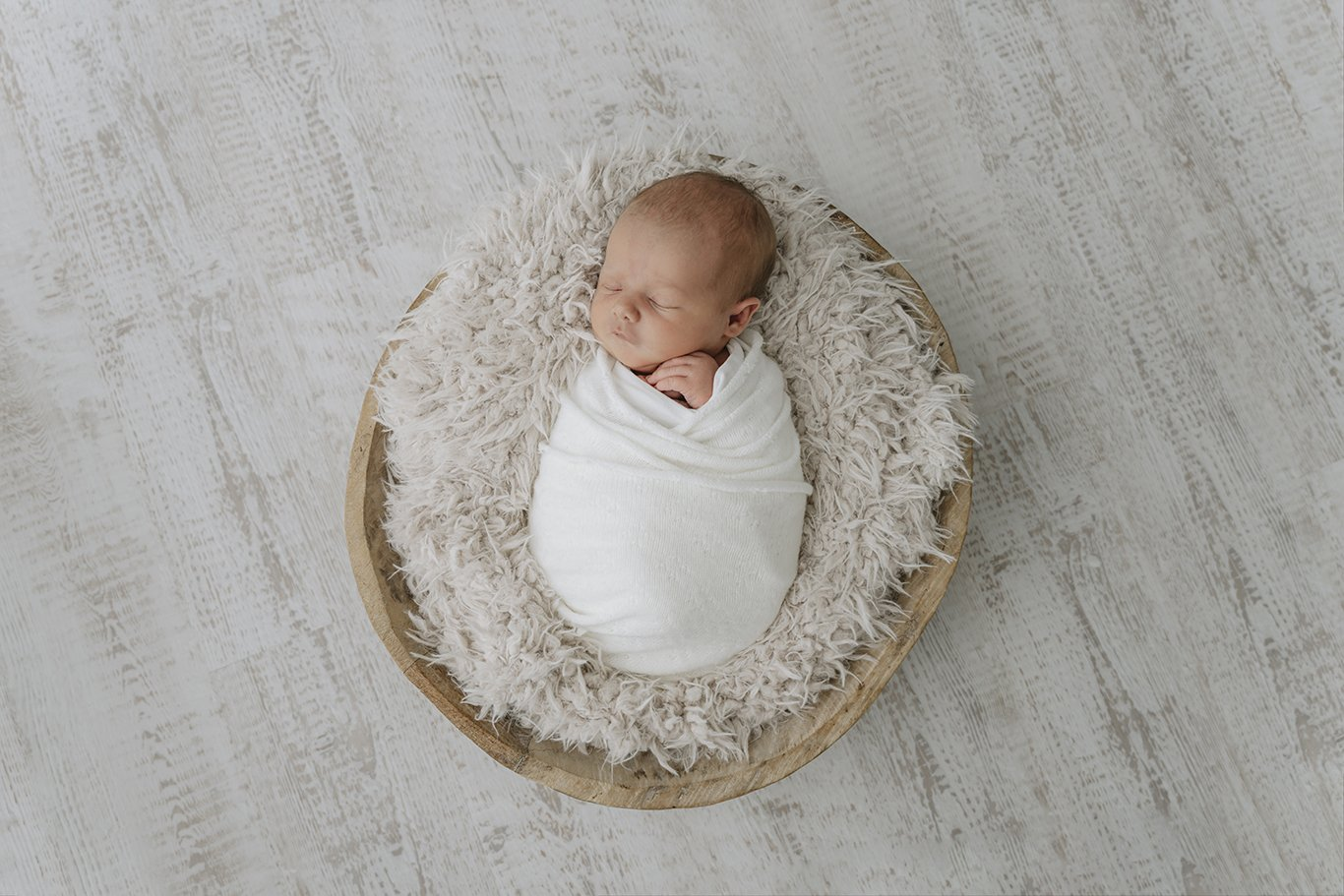 newborn baby wrapped up
